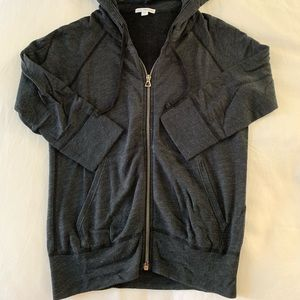 James perse hoodie, gray, size 1